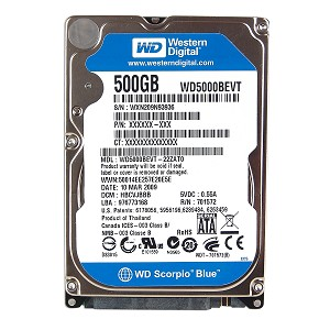 HDD WESTERN 500GB 5400RPM SATA