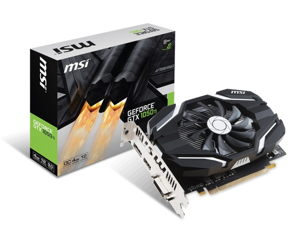 VGA MSI GTX 1050 Ti 4G OCV1 (NVIDIA Geforce/ 4Gb/ DDR5/ 128Bit)